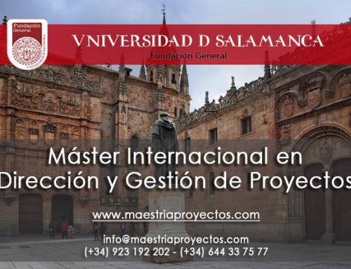 ¡El mejor máster en gestión de proyectos inicia pronto! Universidad de Salamanca (Fundación General)