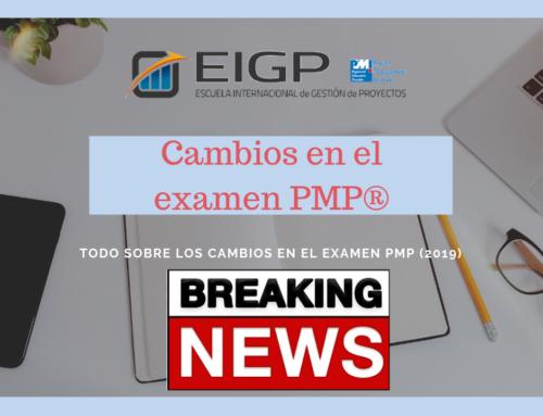 Noticia de última hora sobre los cambios en el examen PMP