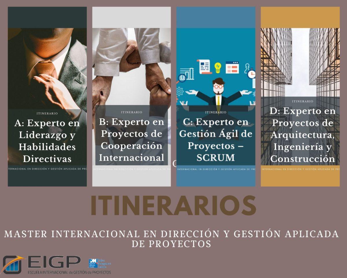 itinerarios master en gestion de proyectos