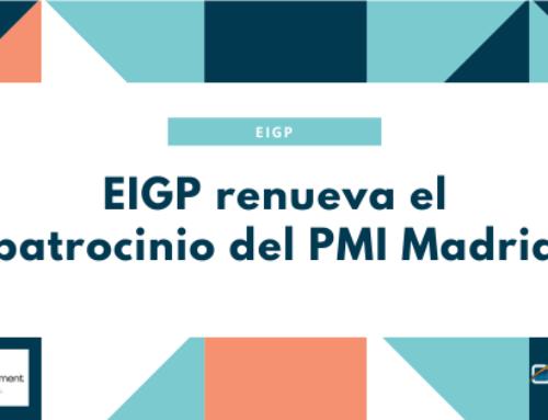 ¡EIGP renueva el patrocinio del PMI Madrid!