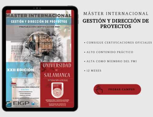 Master en direccion de proyectos: ÚLTIMAS PLAZAS·ABRIL
