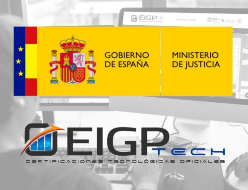 El Ministerio de Justicia Español elige EIGP para formar a sus trabajadores