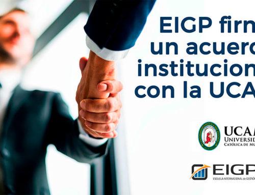 EIGP firma un acuerdo institucional con la UCAM
